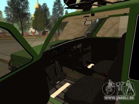 VAZ 21213 Niva 4x4 Off Road pour GTA San Andreas vue arrière