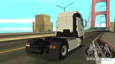 KAMAZ 5490 pour GTA San Andreas sur la vue arrière gauche