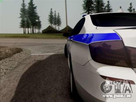 BMW M5 F10 INNEN OFFICE für GTA San Andreas Innenansicht
