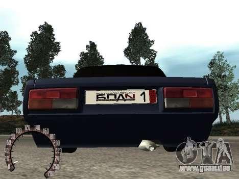 VAZ 2107 BPAN für GTA San Andreas Innenansicht