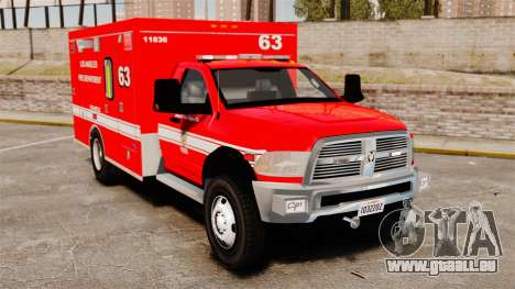 Dodge Ram 3500 2011 LAFD Ambulance [ELS] für GTA 4