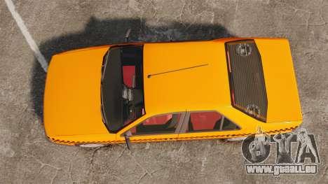 Peugeot 405 GLX Taxi für GTA 4 rechte Ansicht
