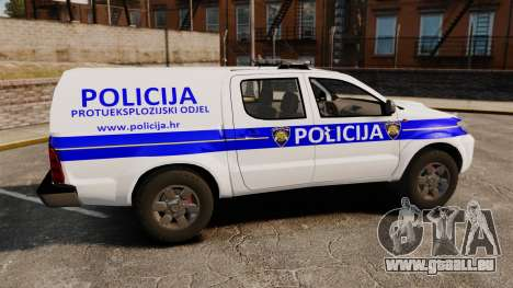 Toyota Hilux Croatian Police v2.0 [ELS] pour GTA 4 est une gauche