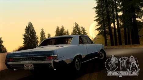 Pontiac Tempest LeMans GTO Hardtop Coupe 1965 pour GTA San Andreas laissé vue