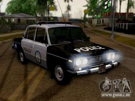 VAZ 2106 Los Santos Police pour GTA San Andreas vue de droite