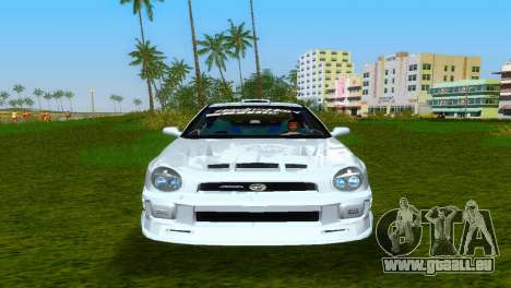 Subaru Impreza WRX v1.1 pour une vue GTA Vice City de l'intérieur