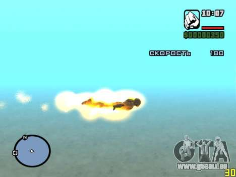 Fliegen Sie herum als Eisenmann für GTA San Andreas