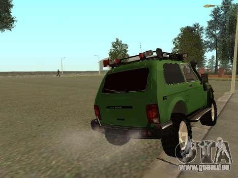 VAZ 21213 Niva 4x4 Off Road pour GTA San Andreas sur la vue arrière gauche