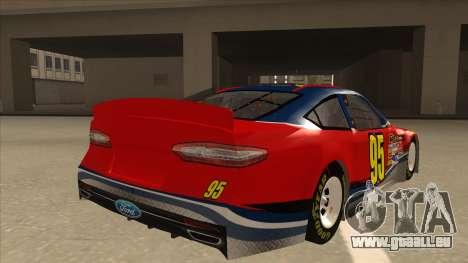 Ford Fusion NASCAR No. 95 pour GTA San Andreas vue de droite