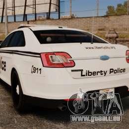 Ford Taurus Police Interceptor 2011 [ELS] für GTA 4 hinten links Ansicht