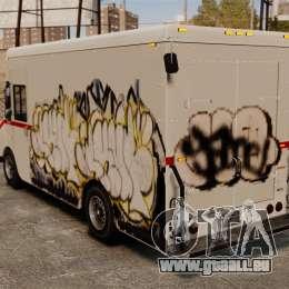 Neue Graffiti zu Boxville für GTA 4 hinten links Ansicht
