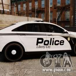 Ford Taurus Police Interceptor 2011 [ELS] für GTA 4 linke Ansicht