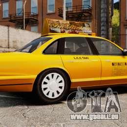 Taxi mit neuen Festplatten-v2 für GTA 4 linke Ansicht