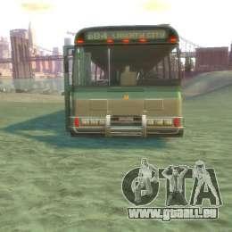Bus von GTA 5 für GTA 4 Rückansicht