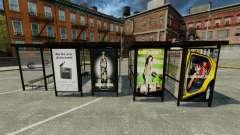 Publicité réelle aux arrêts d'autobus