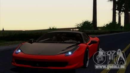 Ferrari 458 Italia Novitec Rosso Carbon für GTA San Andreas