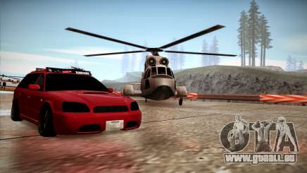 Subaru Legacy Wagon Hellaflush pour GTA San Andreas