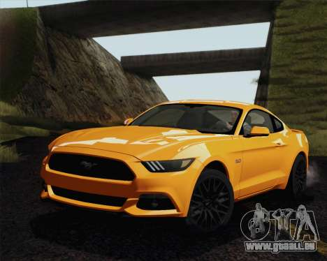 Ford Mustang GT 2015 pour GTA San Andreas vue intérieure