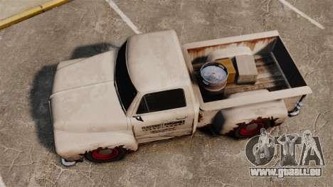 Rostigen alten Lastwagen für GTA 4 rechte Ansicht