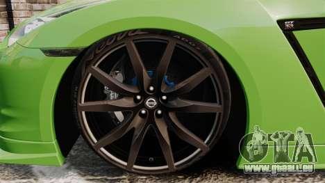 Nissan GT-R SpecV 2010 pour GTA 4 Vue arrière