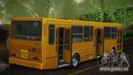 LIAZ 5256.00 Skin-Pack 5 pour GTA San Andreas vue de dessous