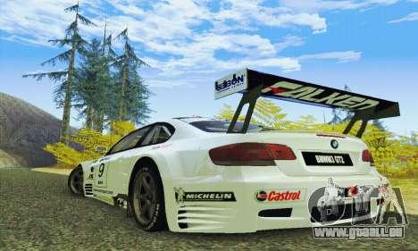 BMW M3 GT2 E92 ALMS pour GTA San Andreas sur la vue arrière gauche