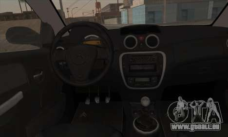 Citroen C2 Tuned pour GTA San Andreas vue arrière