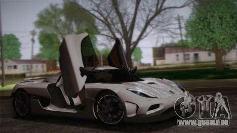Koenigsegg Agera pour GTA San Andreas
