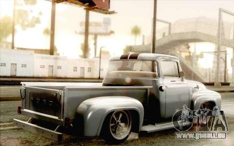 Ford F100 1956 pour GTA San Andreas laissé vue
