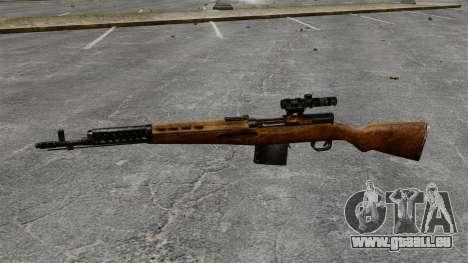 Ladewagen Gewehr Tokarev 1940 für GTA 4 dritte Screenshot