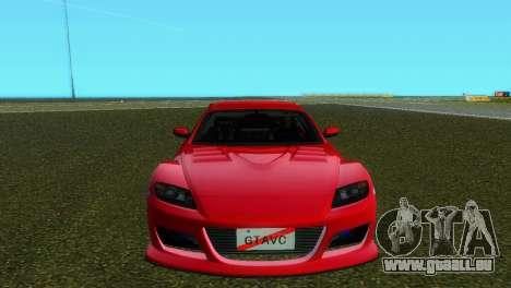 Mazda RX8 Type 1 pour une vue GTA Vice City de la gauche