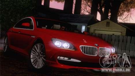 BMW 6 Gran Coupe v1.0 pour GTA San Andreas vue intérieure
