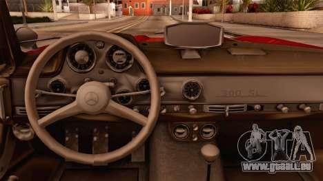 Mercedes-Benz 300SL Gullwing pour GTA San Andreas vue de droite