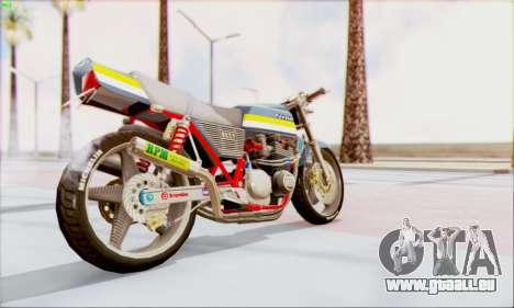 Kawasaki Z-400FX Custom pour GTA San Andreas laissé vue