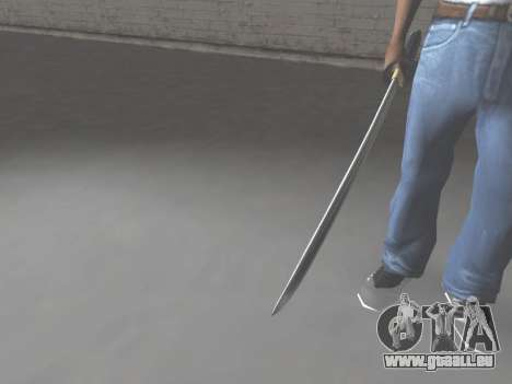 CSO Katana pour GTA San Andreas troisième écran