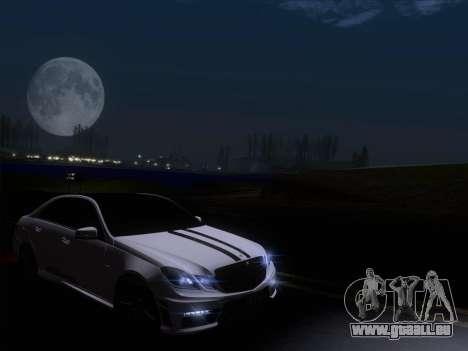 Mercedes-Benz E63 AMG 2011 Special Edition pour GTA San Andreas vue de dessous