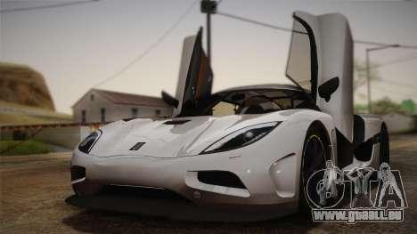 Koenigsegg Agera pour GTA San Andreas vue intérieure