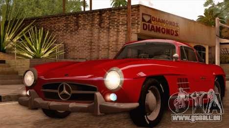 Mercedes-Benz 300SL Gullwing pour GTA San Andreas laissé vue