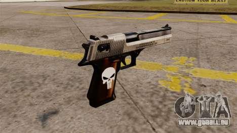 Desert Eagle halbautomatische Pistole Punisher für GTA 4 Sekunden Bildschirm