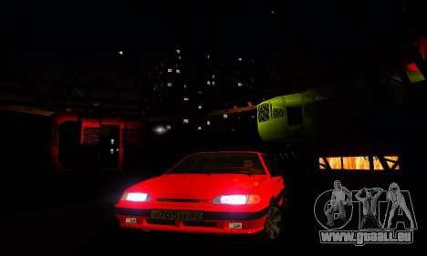 VAZ-2115-Licht-Tuning für GTA San Andreas obere Ansicht