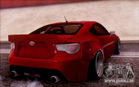 Toyota GT86 Rocket Bunny v2 pour GTA San Andreas laissé vue