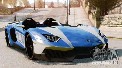 Lamborghini Aventador J Police pour GTA 4 vue de dessus