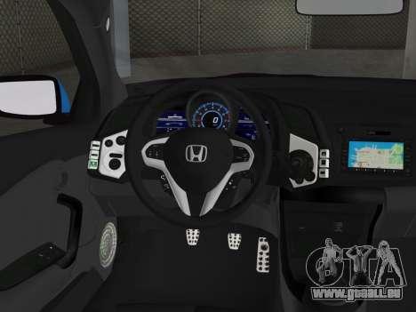 Honda CR-Z 2010 pour GTA Vice City sur la vue arrière gauche