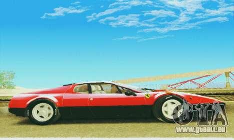 Ferrari 512 BB für GTA San Andreas Innenansicht