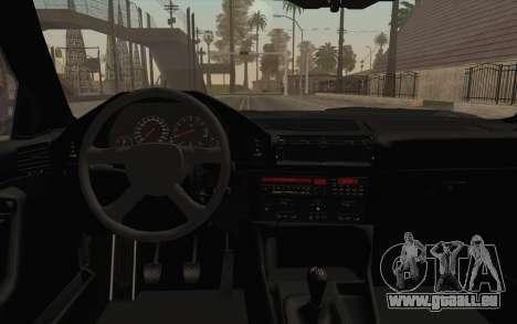BMW E34 Alpina pour GTA San Andreas vue intérieure