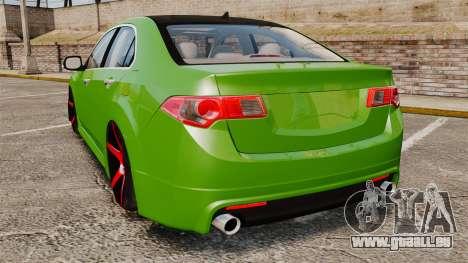 Acura TSX Mugen 2010 für GTA 4 hinten links Ansicht