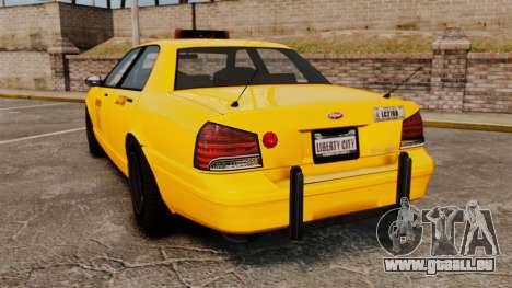GTA V Gen Vapid LCC Taxi für GTA 4 hinten links Ansicht