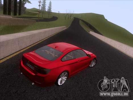 BMW F32 4 series Coupe 2014 pour GTA San Andreas vue arrière