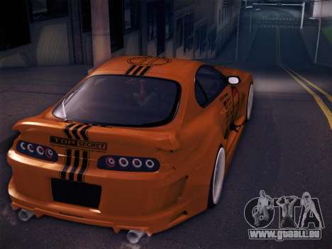Toyota Supra Top Secret V12 pour GTA San Andreas moteur