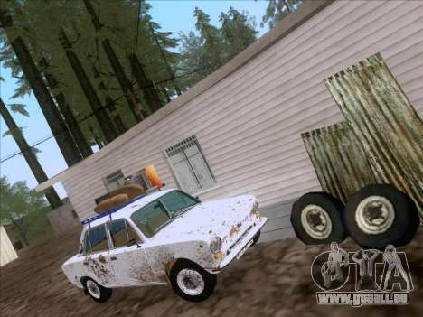 VAZ 21011 Cottage pour GTA San Andreas sur la vue arrière gauche